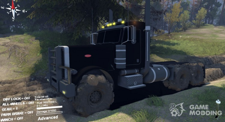 Peterbilt 379 v1.1 black for Spintires 2014