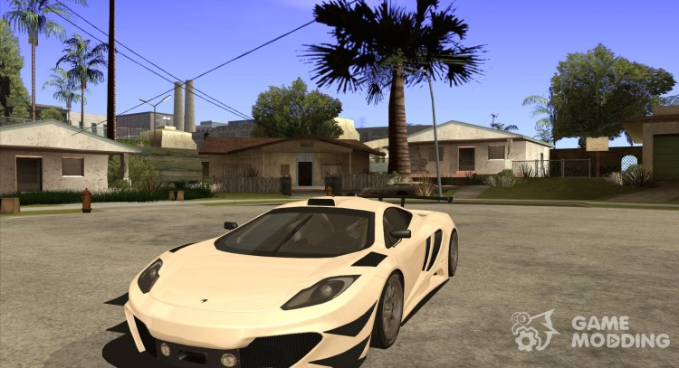 Painting works for the McLaren MP4-12 c Speedhunters Edition for GTA San Andreas
