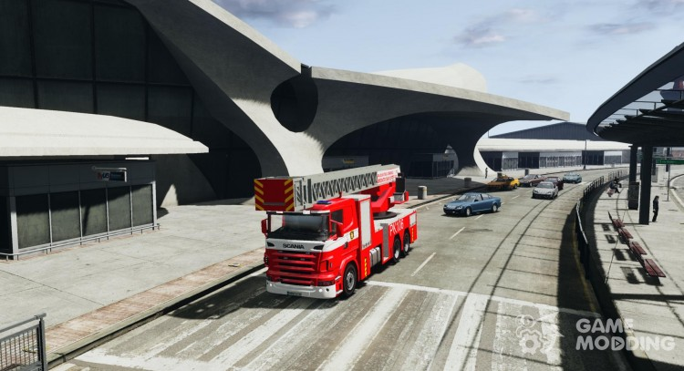 Scania R580 Fire ladder PK106 для GTA 4