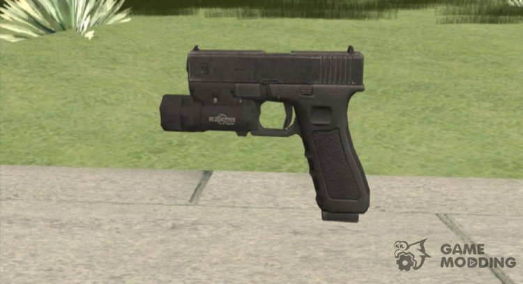 Glock 17 With Flashlight Black for GTA San Andreas