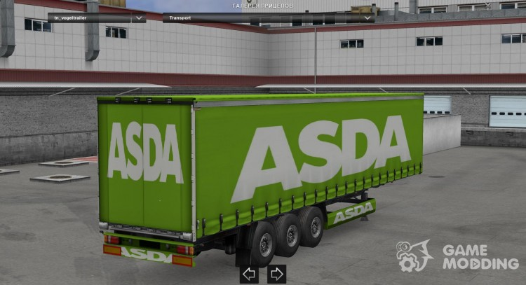 ASDA trailer for Euro Truck Simulator 2