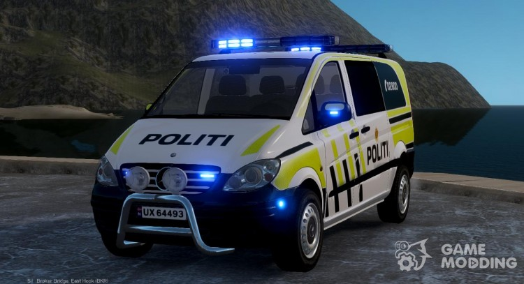 Mercedes-Benz Vito 2014 Norwegian Police for GTA 4