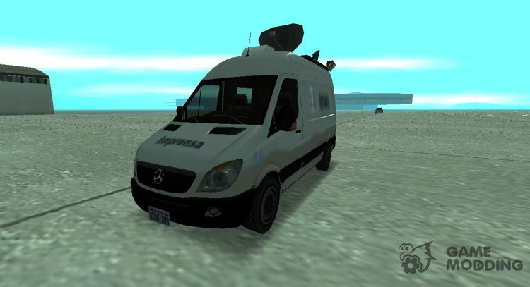 Mercedes Benz Sprinter Newsvan Lowpoly for GTA San Andreas