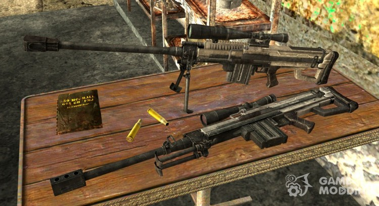 Semi-automatic sniper rifle for Fallout New Vegas