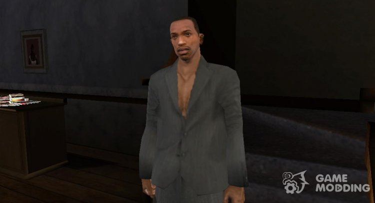 The jacket on a naked body for GTA San Andreas