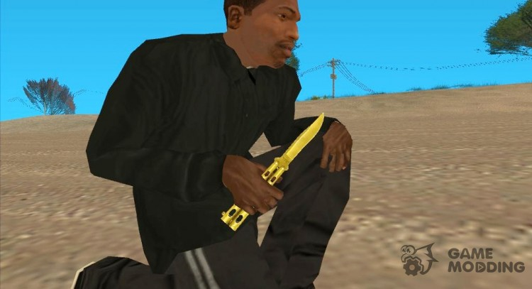 Butterfly Knife (Gold) for GTA San Andreas