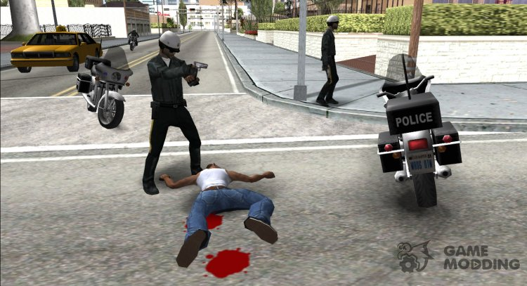 Cops react to death as in GTA VC for GTA San Andreas