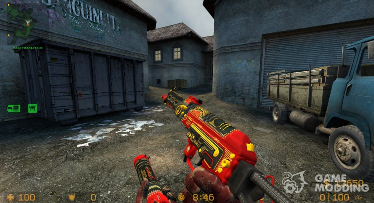 PP-19 Bizon Steam Engine for Counter-Strike Source