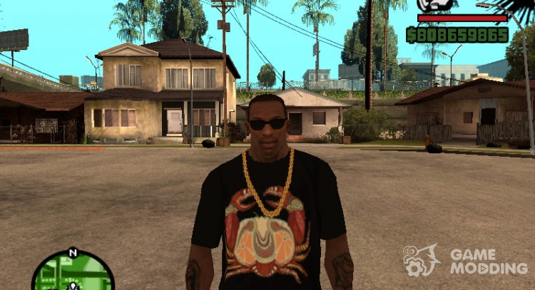 T-shirt with zodiac sign cancer for GTA San Andreas