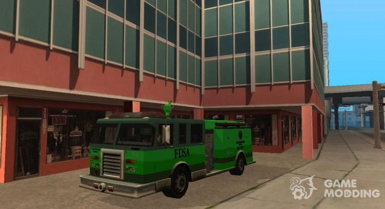 Paintable in the two of the colours of the Firetruck by Vexillum for GTA San Andreas