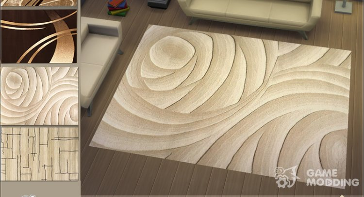 Cream Rugs for Sims 4