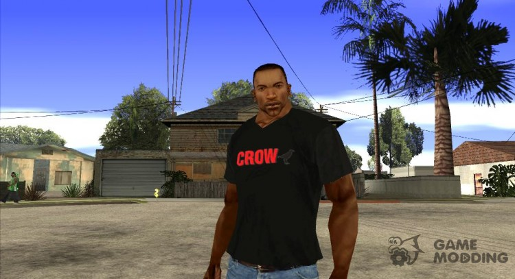 CJ on t-shirt (Crow) for GTA San Andreas