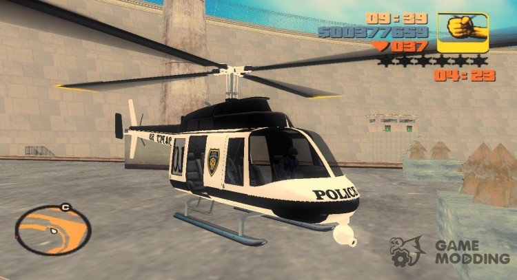 A helicopter from GTA 4 v2 for GTA 3