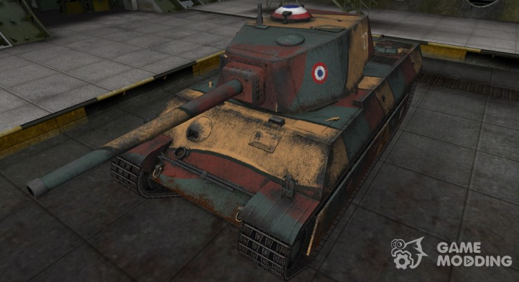 Historical camouflage AMX M4 mle. 45 for World Of Tanks