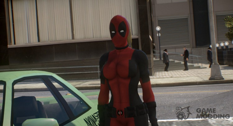 Lady DeadPool [PED] для GTA 4