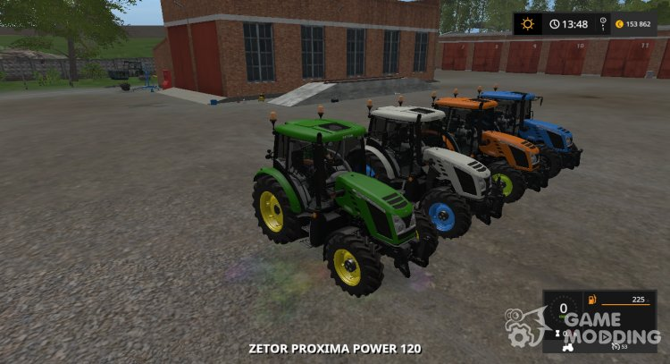 ZETOR PROXIMA 120 MULTICOLOR v1.0.0.0 for Farming Simulator 2017