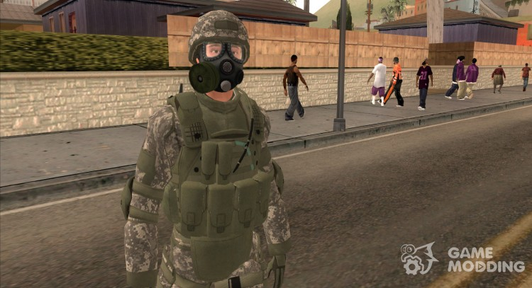 Us Army Soldier Gas Mask from Urban Alpha Protoc for GTA San Andreas