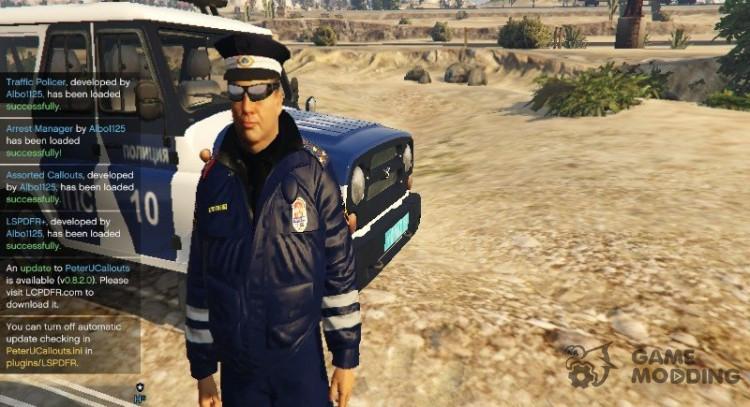 Russian Traffic Officer Dark Blue Jacket for GTA 5