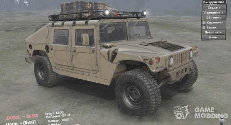 Hummer H1 Military for Spintires 2014