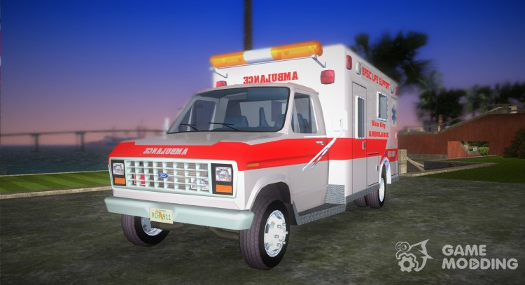 1986 Ford Econoline Ambulance for GTA Vice City