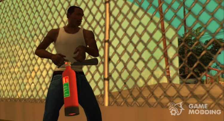 HQ fire extinguisher (With Original HD Icon) for GTA San Andreas
