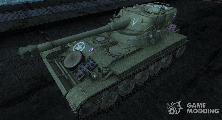 Шкурка для AMX 13 75 №28 для World Of Tanks