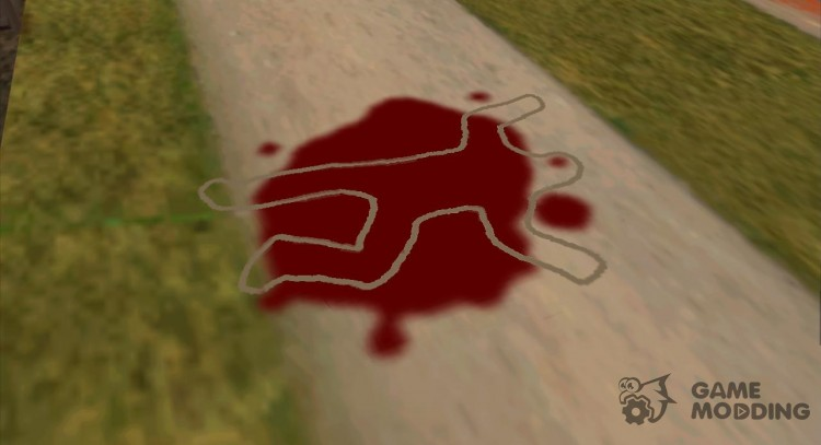 Dead bodies lead round chalk as in GTA VC for GTA San Andreas