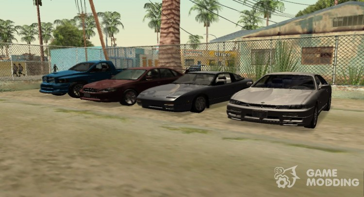 Pak cars, aircrafts, helicopters, bicycles, motorcycle transport for GTA San Andreas
