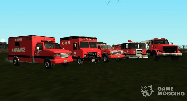 PACK standard cars in the style of Metro Fire для GTA San Andreas