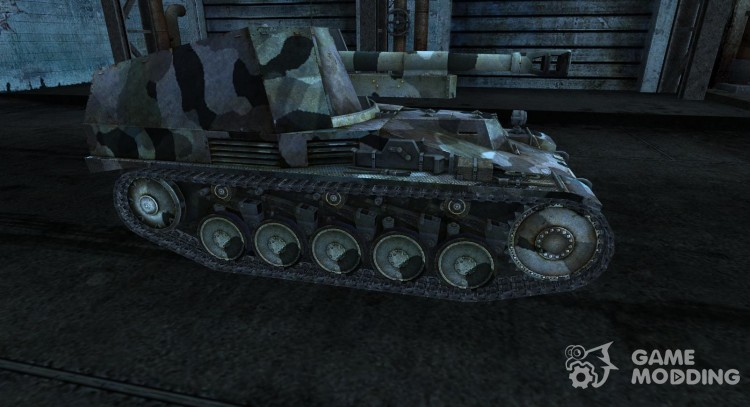 The skin for the Wespe for World Of Tanks