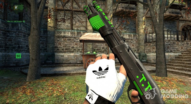 The M3 Super 90 Shotgun Sports for Counter-Strike Source