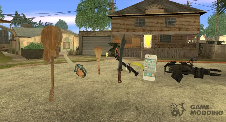 Pak unconventional weapons for GTA San Andreas
