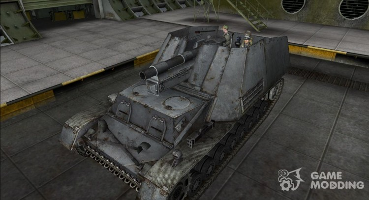 Modified Hummel with tanker for World Of Tanks
