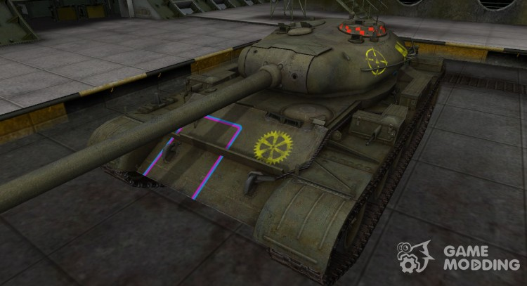 Contour zone breaking through t-54 for World Of Tanks