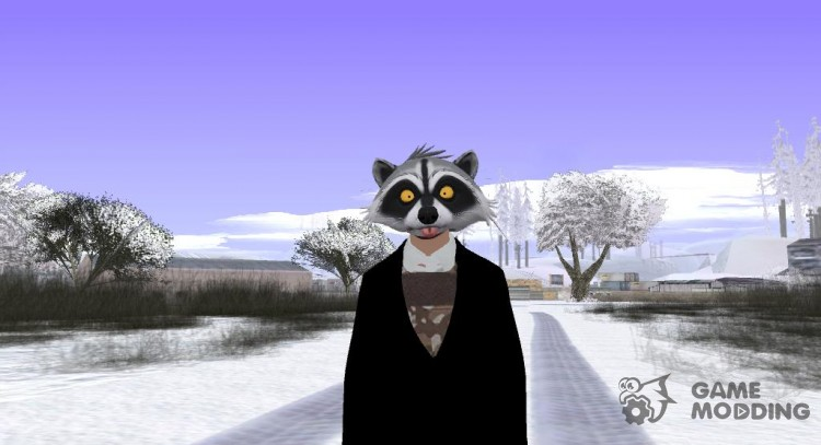 Skin GTA online raccoon mask v3 for GTA San Andreas