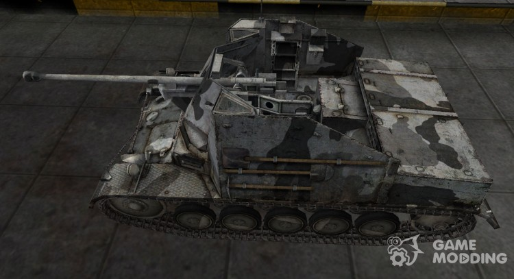 The skin for the German Marder II tank for World Of Tanks