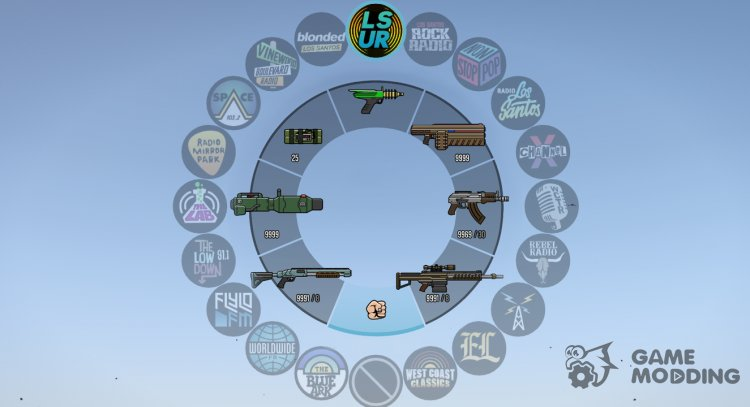 Colorful HUD (Weapons, Radio and Map Blips) for GTA 5
