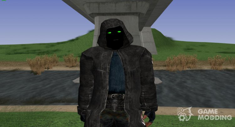 A member of the group Marked by the Zone from S. T. A. L. K. E. R V. 5 for GTA San Andreas