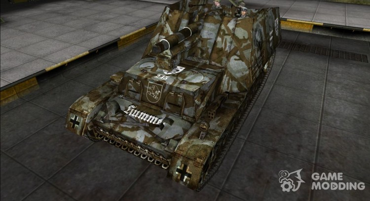 Model Hummel with the crew for World Of Tanks