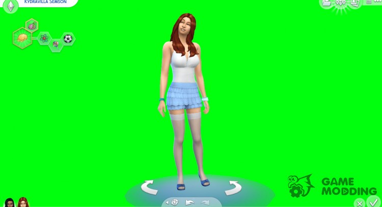 Green screen (chroma key) for CAS for Sims 4