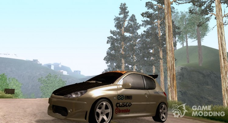 Peugeot 206 Tuning for GTA San Andreas