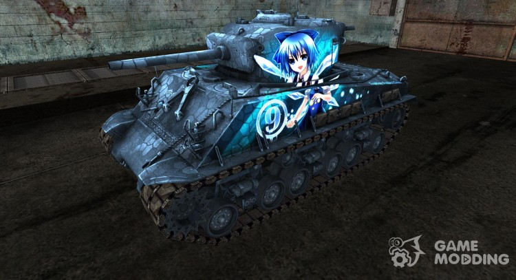 Skin for M4A3E8 Sherman TouHou for World Of Tanks