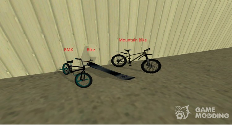 Pak, replacing all motorcycles and bicycles for GTA San Andreas