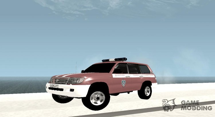 Toyota Land Cruiser 100 2007 Emergency Firefighting Service for GTA San Andreas