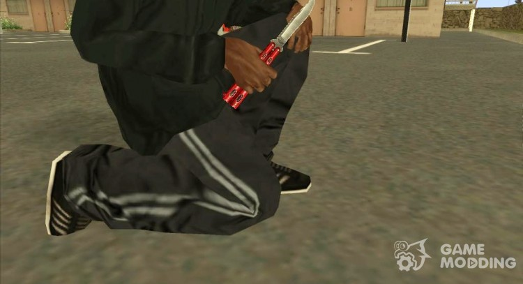 Butterfly Knife (Red) for GTA San Andreas