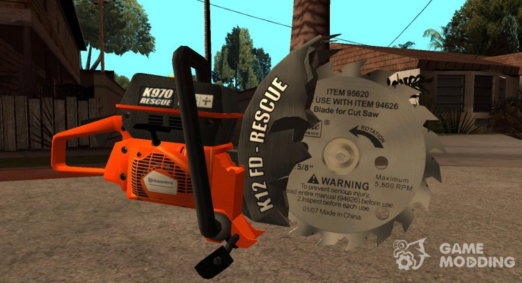 Disc chainsaw for GTA San Andreas