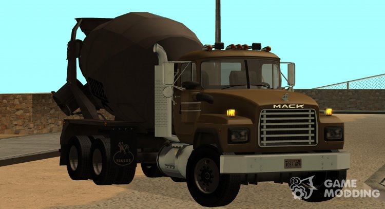 1992 Mack RD690 Mixer Cement Truck replace for GTA San Andreas
