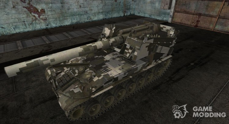 Skin for substitution model Digital Camo for World Of Tanks