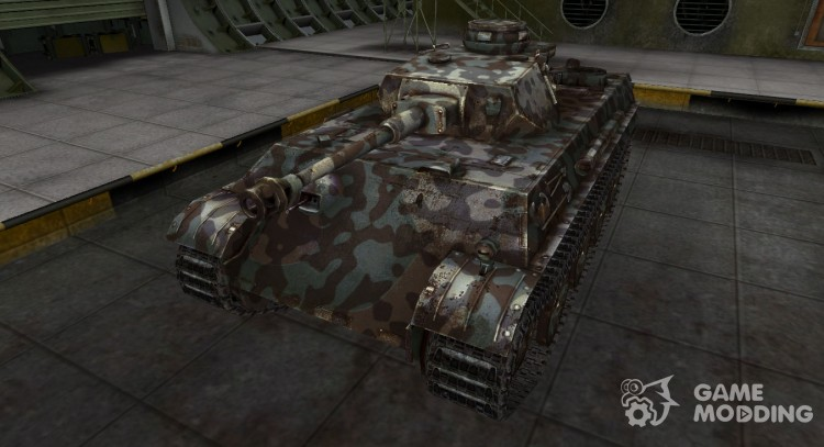 Mountain camouflage for PzKpfw V/IV for World Of Tanks