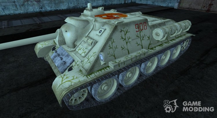Шкурка для СУ-85 Волховский фронт, зима. для World Of Tanks